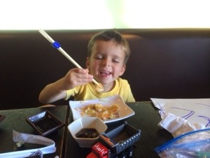 Using chopsticks for grasp